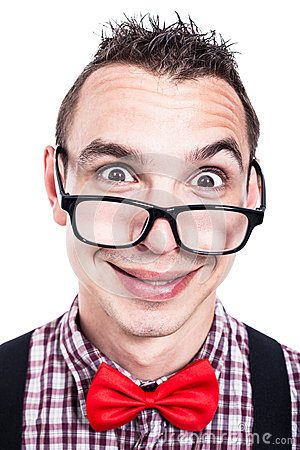 Funny nerd face