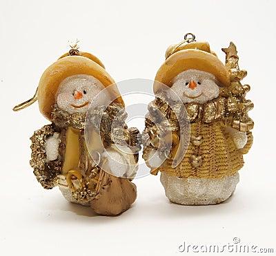 Funny new year snowmen