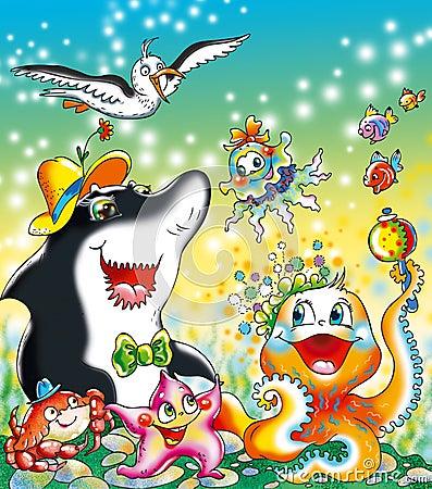 Funny ocean life