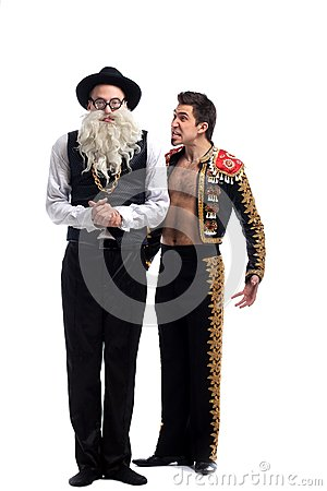 Funny old Jew and toreador