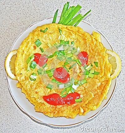 Funny omelette