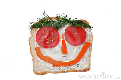 Funny open sandwich