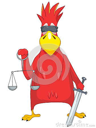 Funny Parrot. Law.