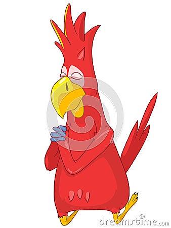 Funny Parrot. Prey.