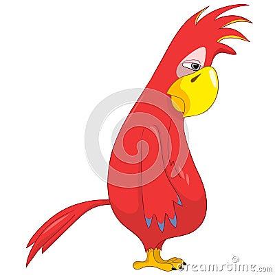 Funny Parrot. Sad.