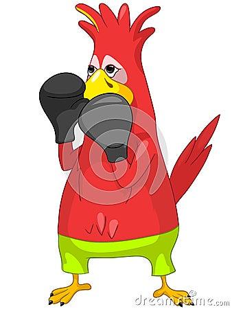 Funny Parrot. Tennis.