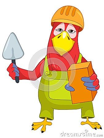 Funny Parrot. Violinist