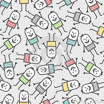 funny people seamless pattern