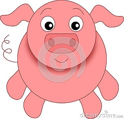 A funny pig
