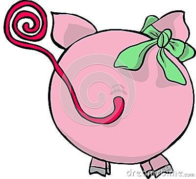 funny pig - back side