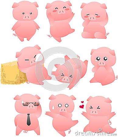 Funny pig cartoon collection royalty free stock photos - Pig wallpaper cartoon pig ...