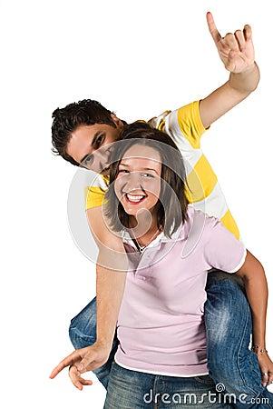 Funny piggyback