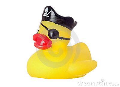 Funny pirate duck