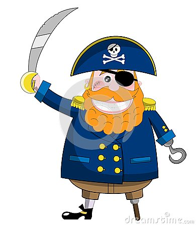 Funny Pirate with Sword