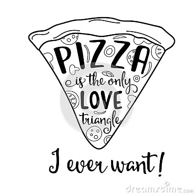 Free Funny Quote About Love And Pizza Stock Image - 128398291