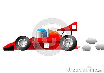 Funny race car