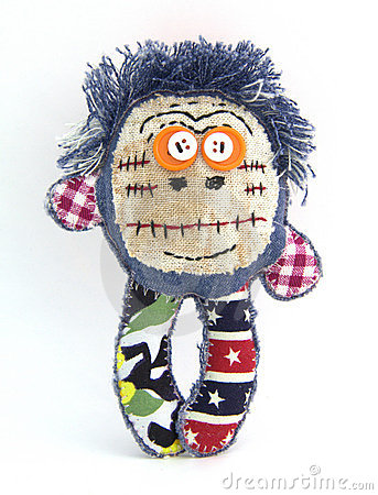 The funny rag doll