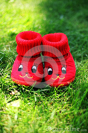 Funny red booties