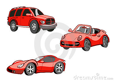 Funny  red  cars
