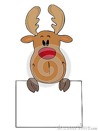 Funny reindeer.