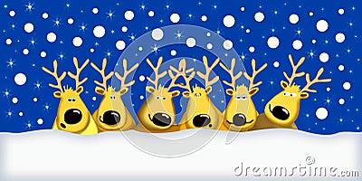 Funny reindeers