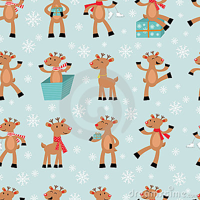 Funny reindeers background