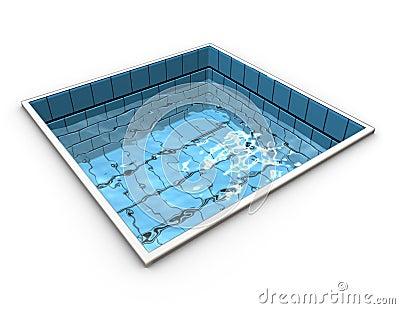 Funny representation of a swiming pool