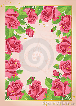 Funny roses background