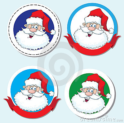Funny santa head sticker