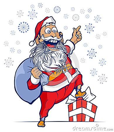 Funny santa smile