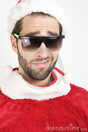 Funny Santa With Sunglasses
