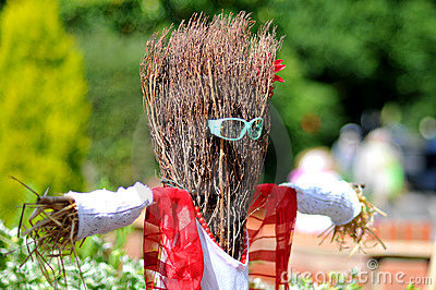 Funny Scarecrow Wearing Sunglasses