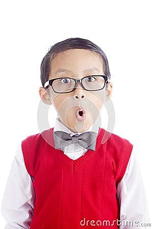 Funny schoolboy