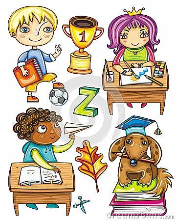 Free Funny Schoolchildren Series 1 Stock Images - 20666524