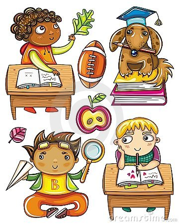 Free Funny Schoolchildren Series 2 Stock Image - 20666581