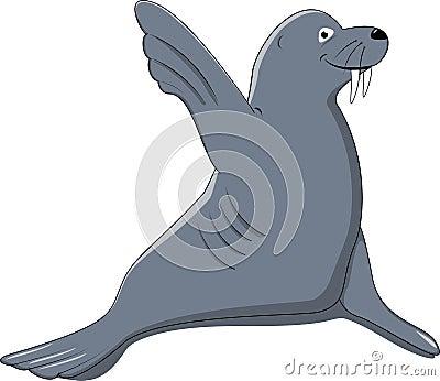 Funny Seal Say Hello