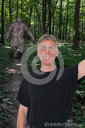 Free Funny Selfie, Bigfoot, Sasquatch Stock Photo - 45221600
