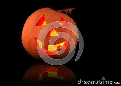 Funny shining pumpkin