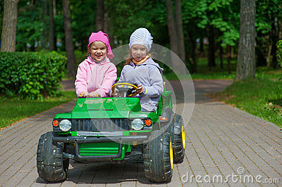 Funny sisters go to little green