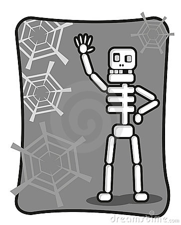 Free Funny Skeleton Says Halo Stock Images - 18358244