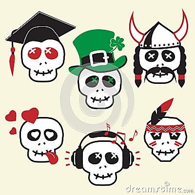 Funny skulls, smiles