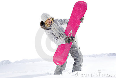 Funny Snowboarder
