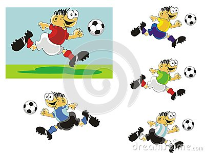 Funny Soccer player in action