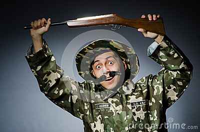Funny soldier