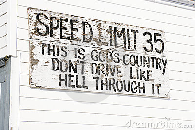 Funny speed limit sign.