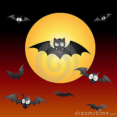 Funny and spooky Bats