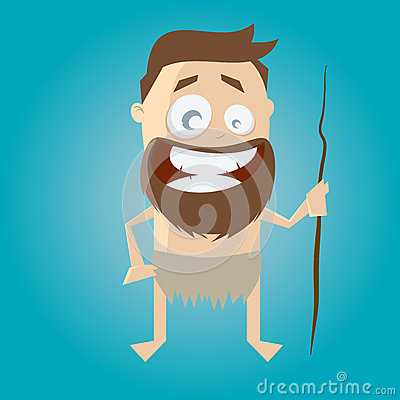 Funny stone age man