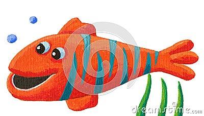 Funny striped fish