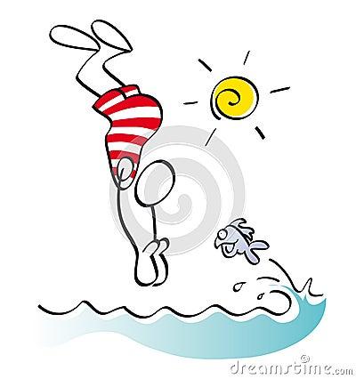 Funny swimmer