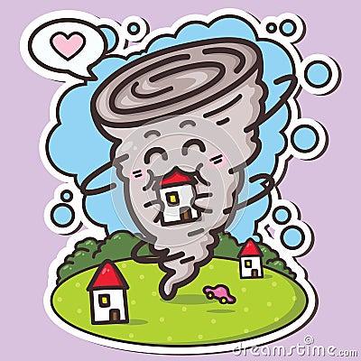 Funny Tornado Stock Image Image 31904201